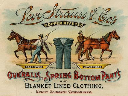 Une publicité de 1886 pour le Jean 501.( © Collection Levi Strauss & Co)