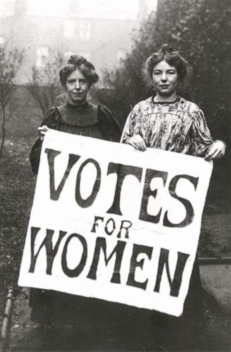 Suffragettes anglaises 1908 © Wikipedia