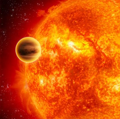 Vue d'artiste de l'exoplanète HD 189733b. © ESA / C. Carreau.