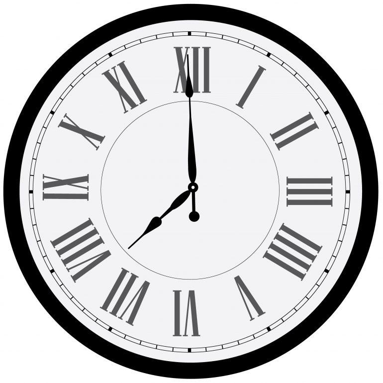 Voici une horloge avec des chiffres romains © Fotolia