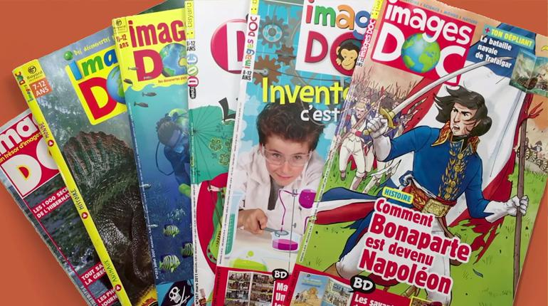 Quelques couvertures du magazine Images Doc présentant leur grand sujet.
