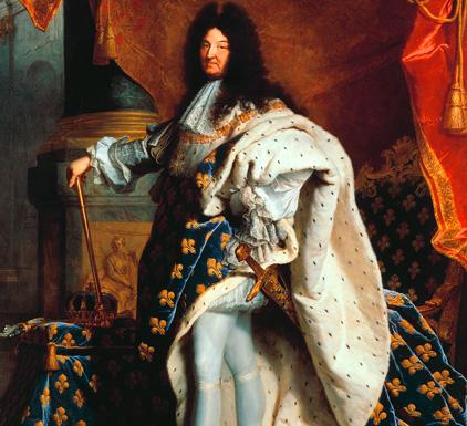 Louis XIV en costume de sacre par Hyacinthe Rigaud, en 1701. © Wikipedia CC