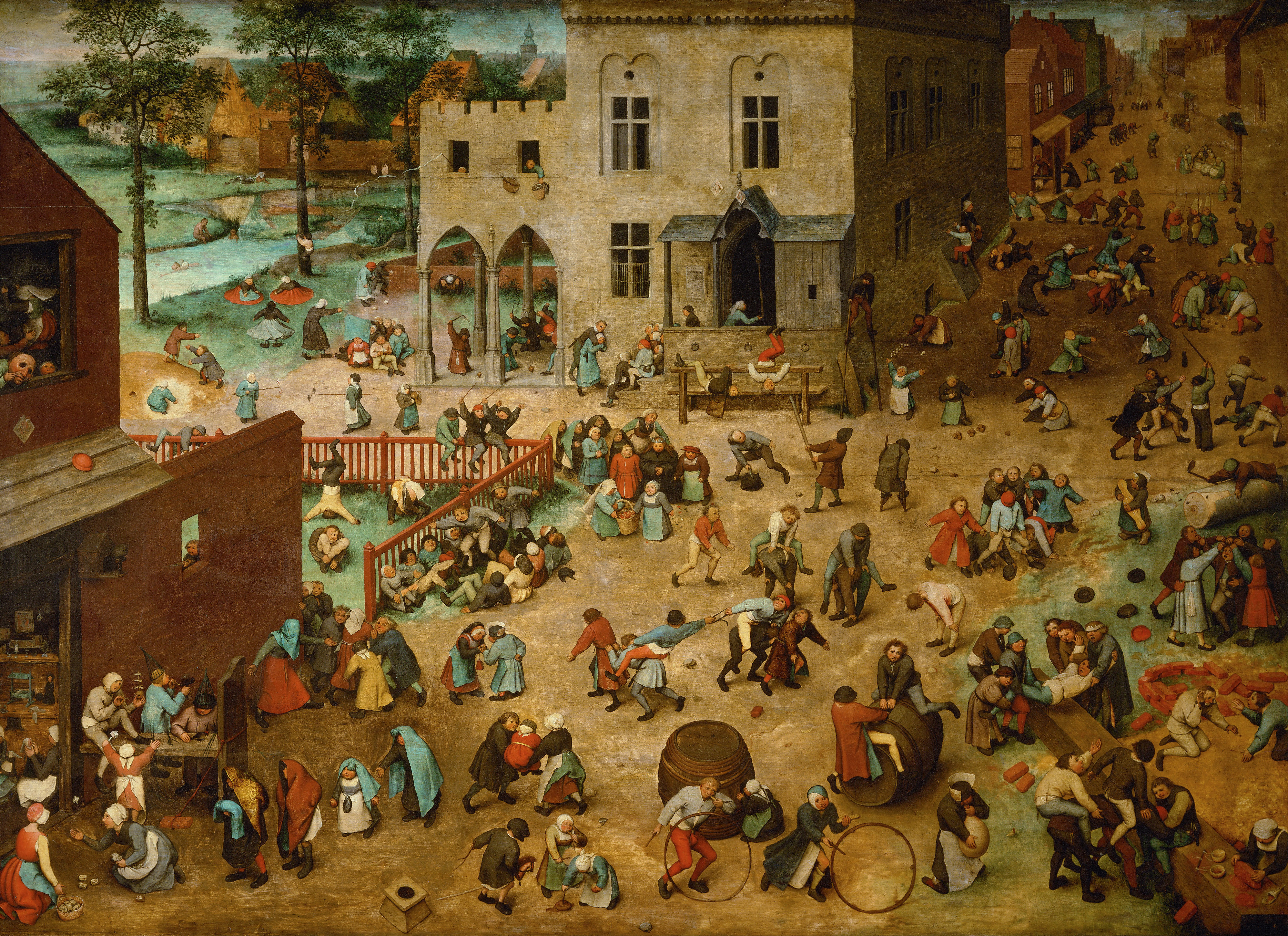 Les jeux d'enfants, Pieter Brueghel l'Ancien, 1560 © Collection Kunsthistorisches Museum Wien