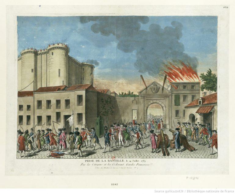 Prise de la Bastille, le 14 juillet 1789 © Bibliothèque nationale de France, département Estampes et photographie