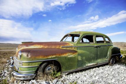 Epave de voiture dans l'Oregon aux USA. © Siegfried Schnepf / Fotolia