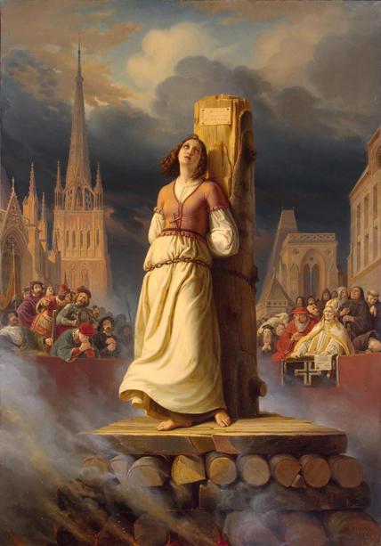 Jeanne d'Arc sur le bûcher (tableau de Hermann Stilke, 1843) © DR