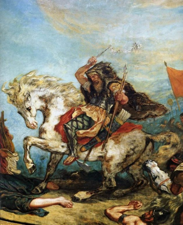 Eugène Delacroix, Attila, suivi de ses hordes, foule aux pieds l'Italie et les Arts, 1847 © Palais Bourbon/Wikipedia