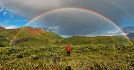 Double arc-en-ciel. Parc national St-Elias en Alaska. © Eric Rolph