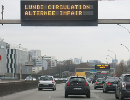 Circulation alternée pour réduire la pollution de l'air. © Airparif