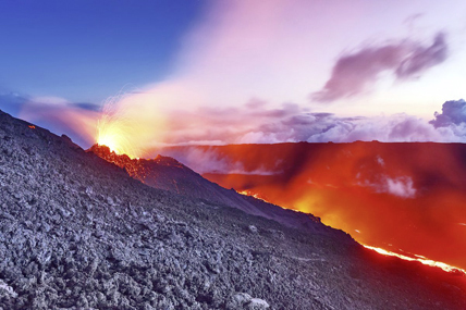 Eruption du Piton de la Fournaise (Réunion). ©en.reunion.fr