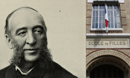 Portrait de Jules Ferry et école dans le 15ème arrondissement de Paris © Robarts - University of Toronto /Atlantis-Adobe Stock