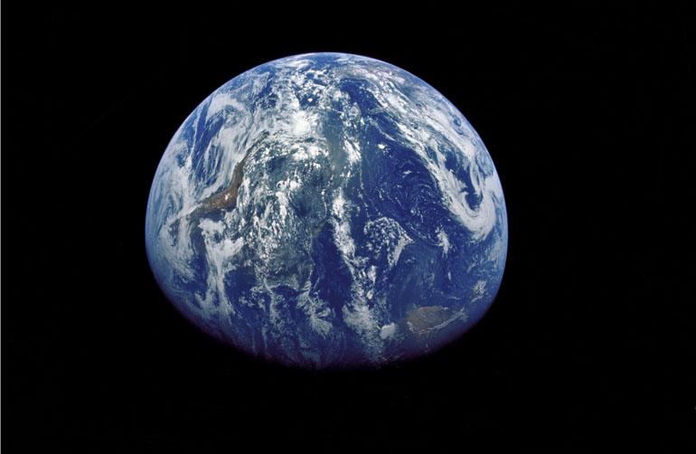 Vue de la terre depuis la lune par Apollo 15 © NASA/JSC