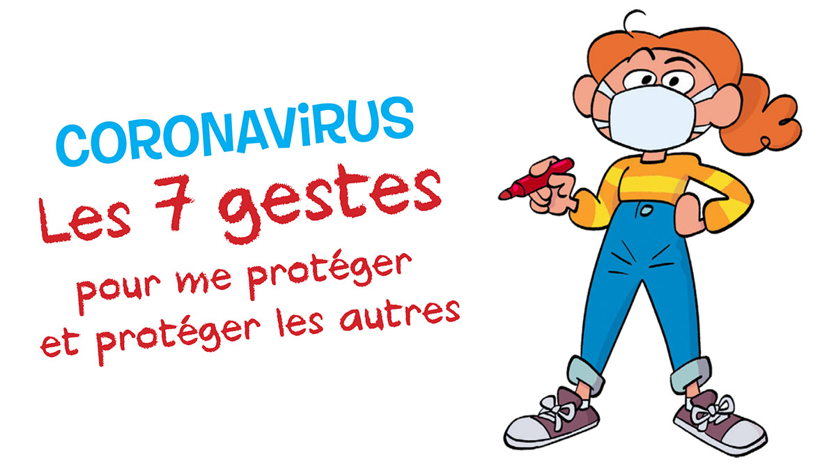 Coronavirus et gestes barrières expliqués aux enfants © Jérôme Anfré pour Images Doc