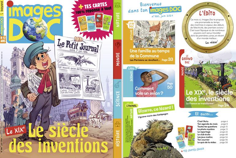 Couverture et sommaire du magazine Images Doc n°390, juin 2021