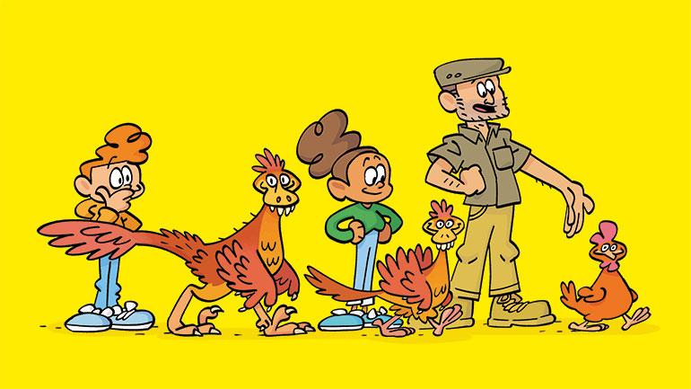 """""""Qui a inventé ?"""" - Les dinosaures – Il y a encore des dinosaures sur terre ! L'interview de Renan Allain."""